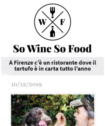 So Wines So Food – 10 dicembre 2019